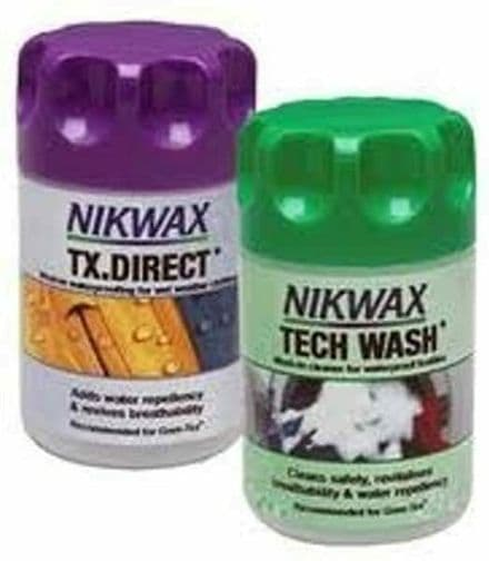 Nikwax Clean and Waterproofing for Clothing Twin Pack